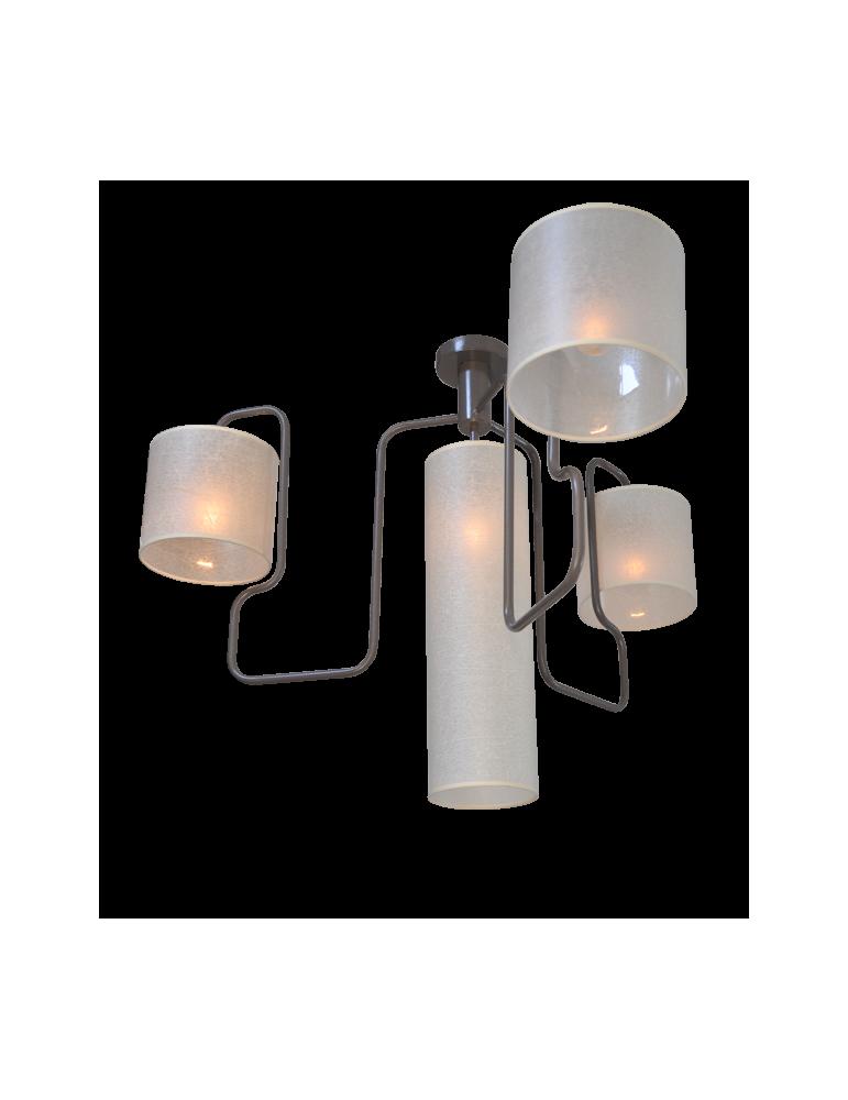 lustre design zig 4 abat jour luminaires d coration contemporaine. Black Bedroom Furniture Sets. Home Design Ideas