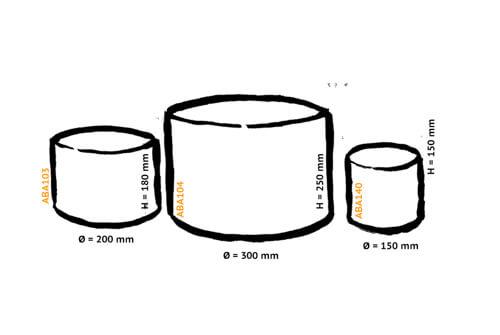 dimensions des abat-jours ronds Pescatore
